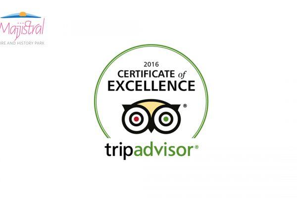 Tripadvisor 2016, Certificate of Excelence