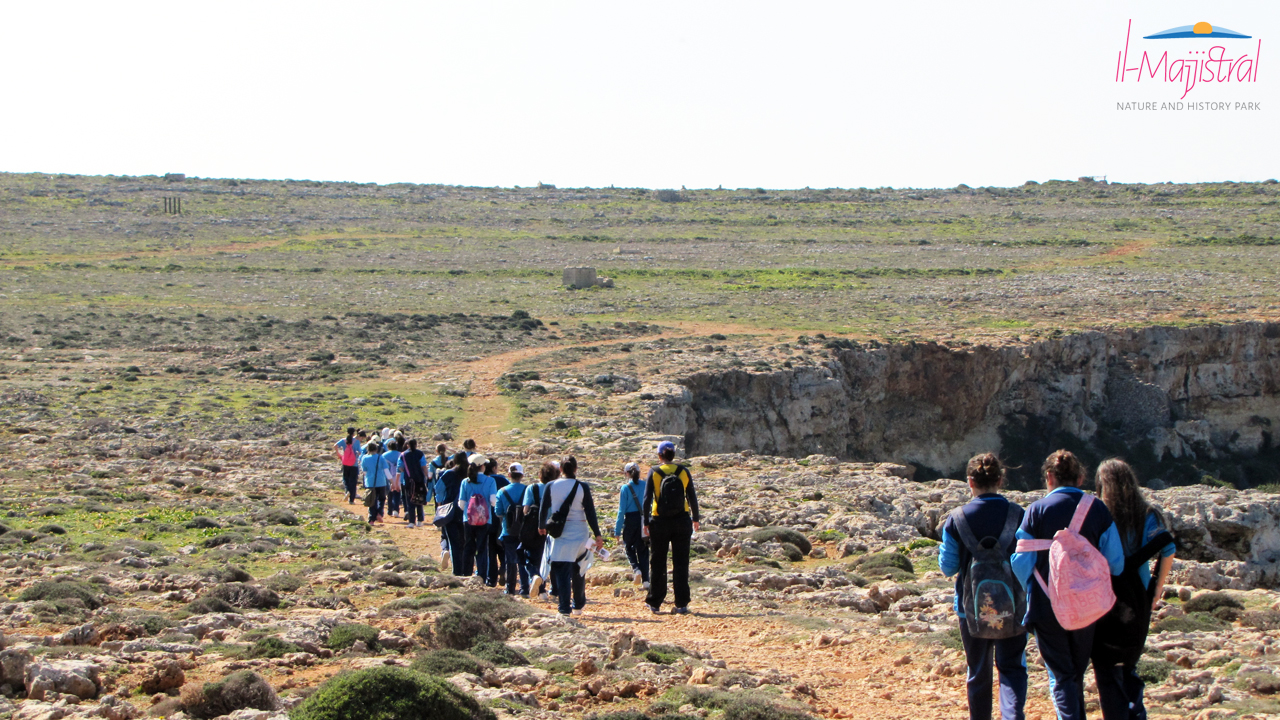 Education tour at Majjistral Nature and History Park