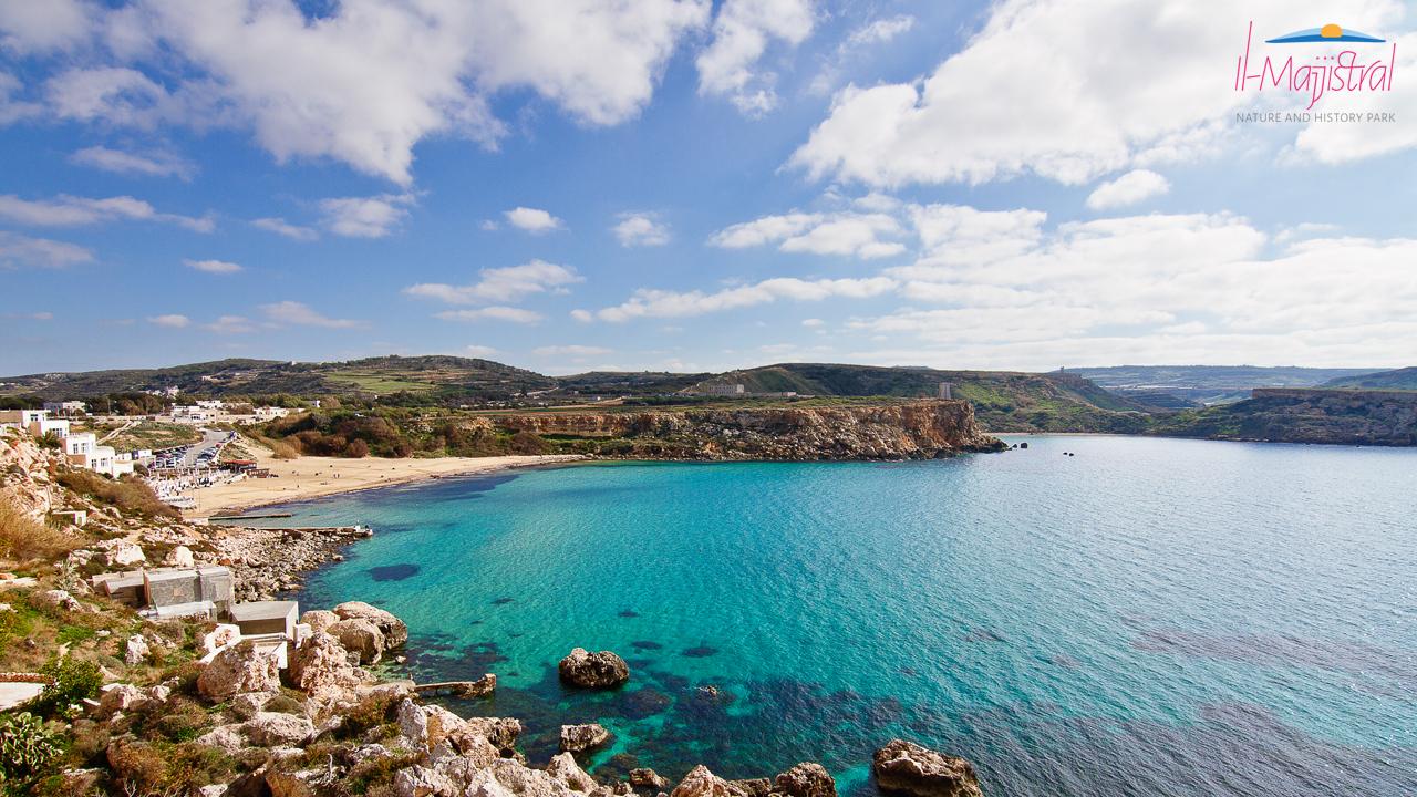 Majjistral Park, Golden Bay beach, Malta