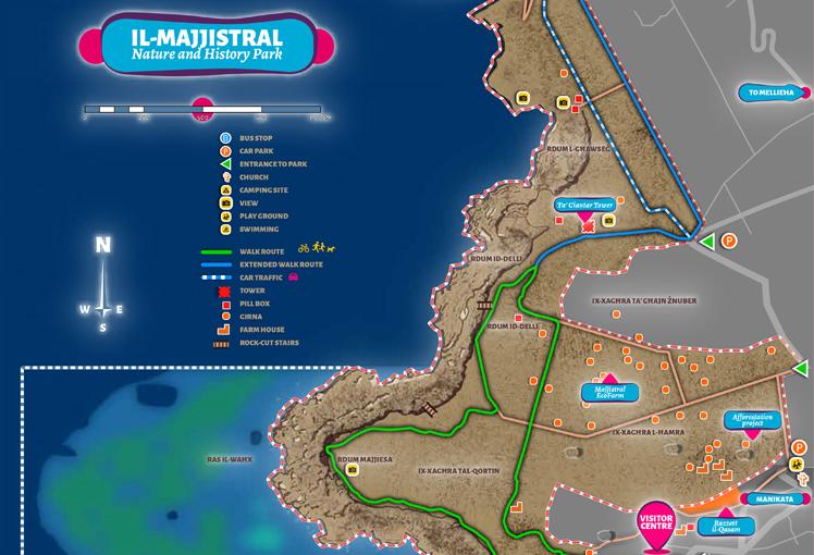 Majjistral Park map preview